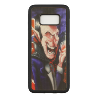 Dracula drinks blood carved samsung galaxy s8 case