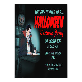 Dracula Invites for Halloween Party Magnetic Invitations