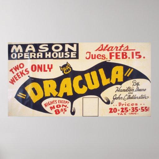 Dracula par Hamilton Deane Poster