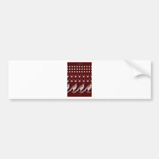 Dracula print bumper sticker