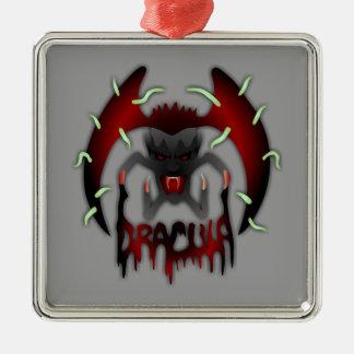 Dracula Silver-Colored Square Ornament