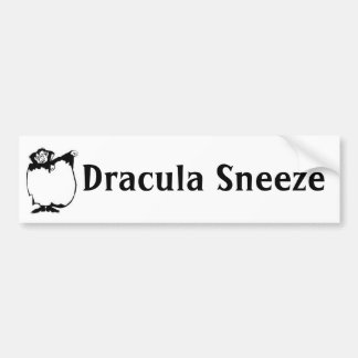 Dracula Sneeze Bumper Sticker