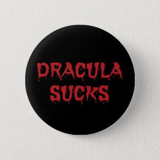 Dracula Sucks - Funny Halloween Vampire 2 Inch Round Button