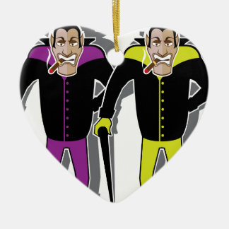 Dracula vector ceramic heart ornament
