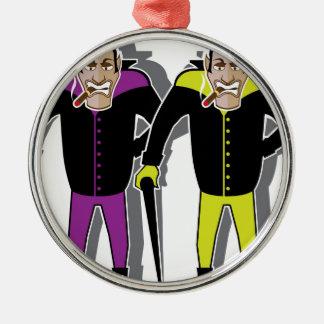 Dracula vector Silver-Colored round ornament