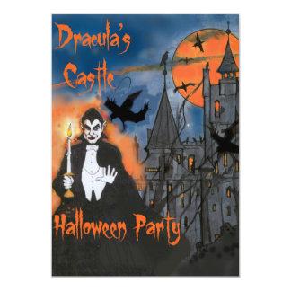 Dracula's Castle Halloween Party Invitation