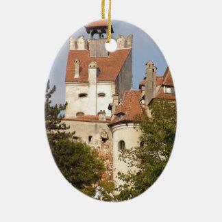 Dracula's Castle, Transylvania Ceramic Ornament