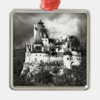 Dracula's Castle, Transylvania Silver-Colored Square Ornament
