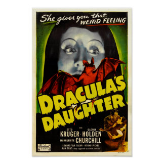 Dracula's Daughter Vintage Movie Poster