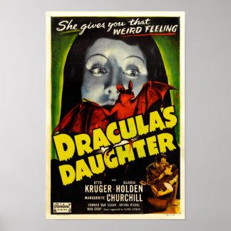 Dracula's Daughter Vintage Movie Poster