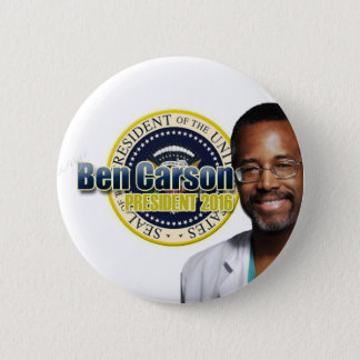 Draft Ben Carson for President 2 Inch Round Button