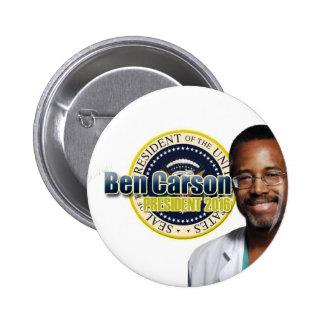Draft Ben Carson for President 2 Inch Round Button
