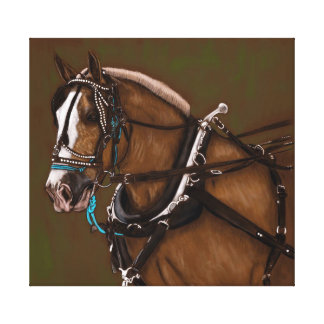 Draft horse portrait canvas print