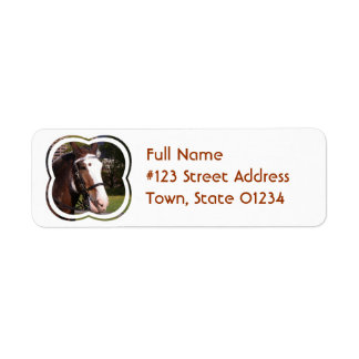 Draft Horse Rescue Mailing Label Return Address Label