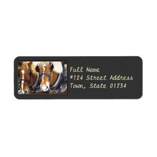 Draft Horse Return Address Label