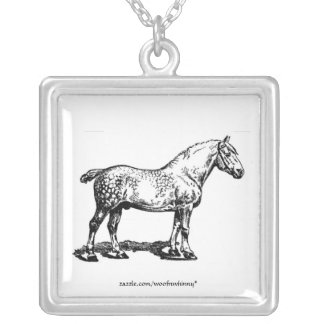 Draft Horse Silver Plated Necklace
