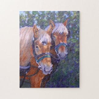 Draft Horses Fine Art Puzzle