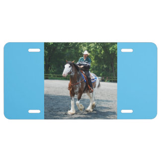 Draft Horses License Plate