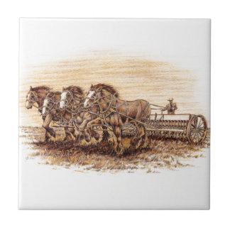 Draft Horses Tile