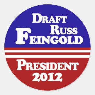 Draft Russ Feingold Lapel Sticker