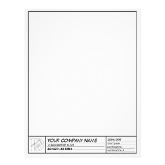 Drafting Frame Template Letterhead Design