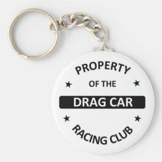 Drag Car Racing Club Basic Round Button Keychain