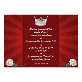 Drag Queen Custom Coronation Invitations