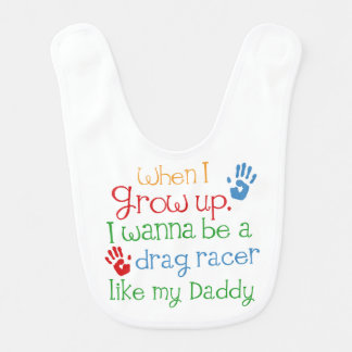 Drag Racer handprints Baby Gift Bib