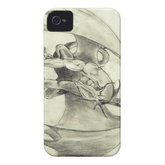 Dragaon - Pencil Sketch iPhone 4 Cover