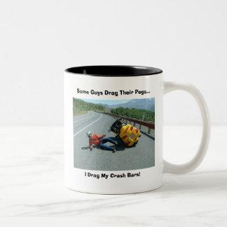 Dragging Pegs! Two-Tone Coffee Mug