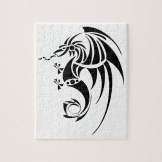 Dragissous V1 - black dragon Jigsaw Puzzle