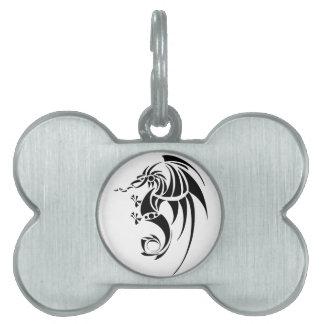 Dragissous V1 - black dragon Pet Tag