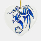 Dragissous V1 - blue dragon Ceramic Ornament
