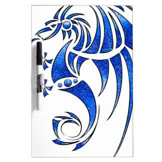 Dragissous V1 - blue dragon Dry Erase Board