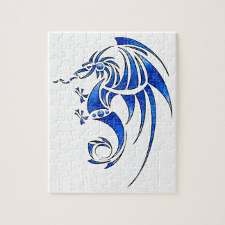 Dragissous V1 - blue dragon Jigsaw Puzzle