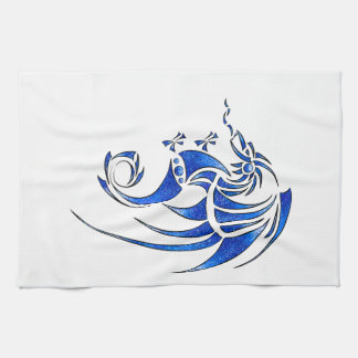 Dragissous V1 - blue dragon Kitchen Towels