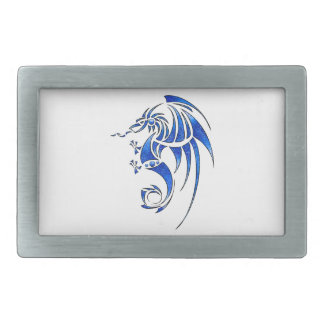 Dragissous V1 - blue dragon Rectangular Belt Buckles