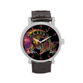 DRAGO / FANTASY DRAGON IN GOLD AND BLACK WRIST WATCHES