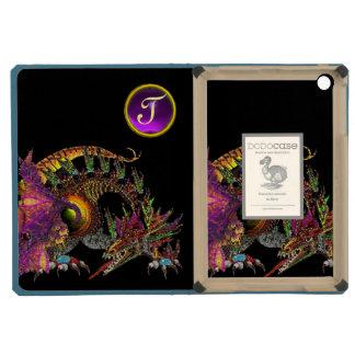 DRAGO,FANTASY DRAGON,PURPLE GEMSTONE MONOGRAM iPad MINI RETINA CASE