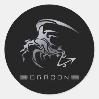 DRAGON6 CLASSIC ROUND STICKER