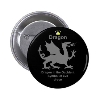 dragon 龍 竜 缶バッジピンバック