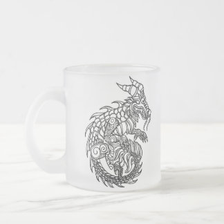 Dragon 10 Oz Frosted Glass Coffee Mug