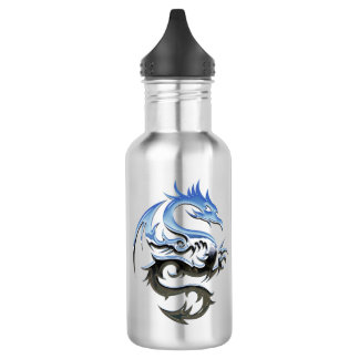 Dragon 18 oz. White 532 Ml Water Bottle