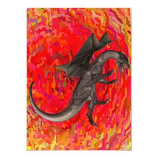 "Dragon 5.5"" X 7.5"" Invitation Card"