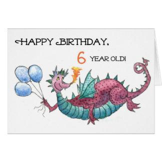 Dragon 6th Birthday Card