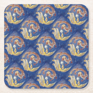 Dragon &a Phoenix Square Paper Coaster