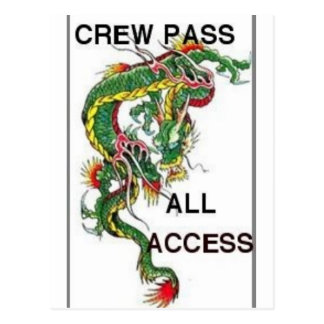 DRAGON ALL ACCESS PASS POSTCARD