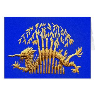 Dragon and Bamboo Card