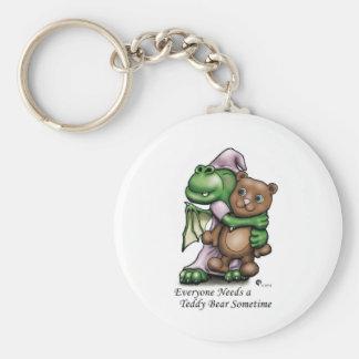 Dragon and Bear Color Mug Basic Round Button Keychain