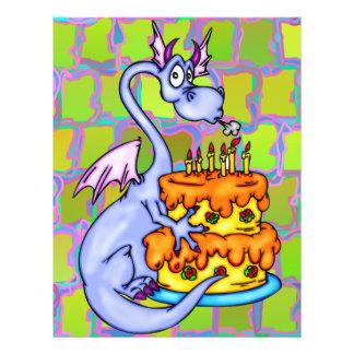 Dragon and Birthday Cake Flyers